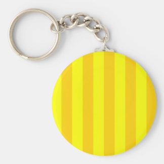 Stripes - Yellow and Dark Yellow Key Chain