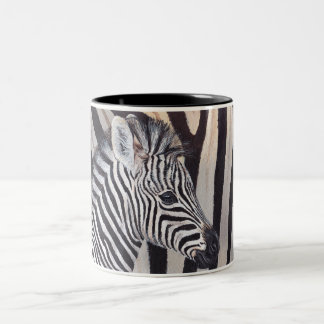 Stripes Zebra Baby and Mom mug