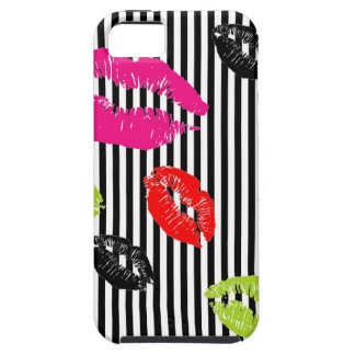 Stripey Colorful Lips iPhone 5 Case