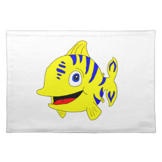Stripey fish placemat