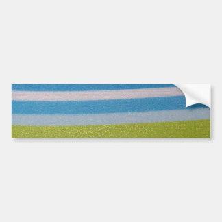 Stripey green! bumper sticker