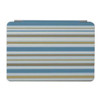 Stripey Horizontal Design Gold Cream Brown Blues iPad Mini Cover
