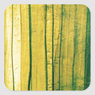 Stripey lime-green texture square sticker