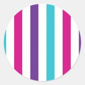 Stripey Lines Round Sticker