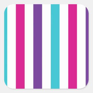 Stripey Lines Square Sticker