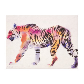 Stripey Stretched Canvas Print