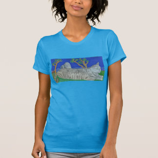 Stripey The Cat At Joshua Tree By Julia Hanna T-Shirt