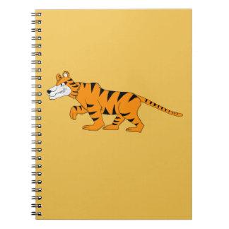 Stripey tiger notebook