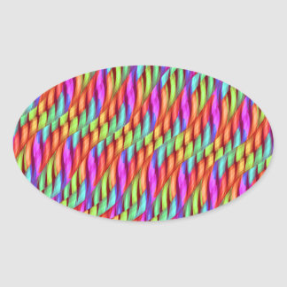 Striping Waves Bright Rainbow Abstract Artwork Stickers