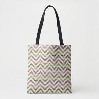 Stripy Chevron - Lilac Tote Bag