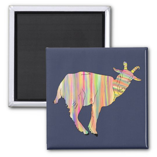 Stripy coloured goat on things change to your name magnet