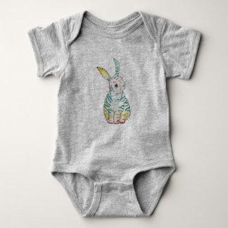 Stripy Rabbit Baby Bodysuit