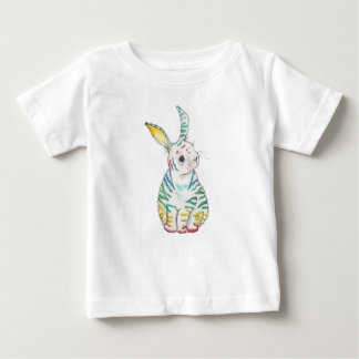Stripy Rabbit Baby Tshirt