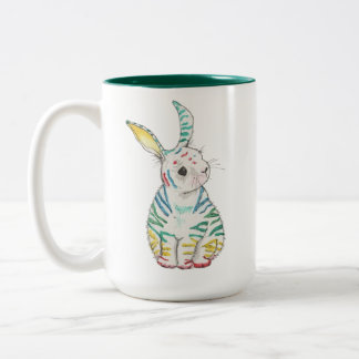Stripy Rabbit Mug