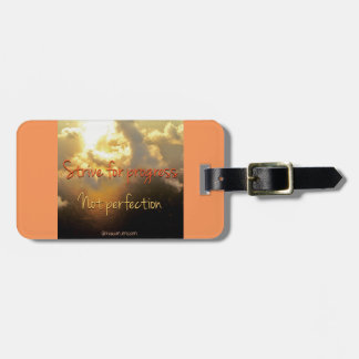 Strive for progress luggage tag