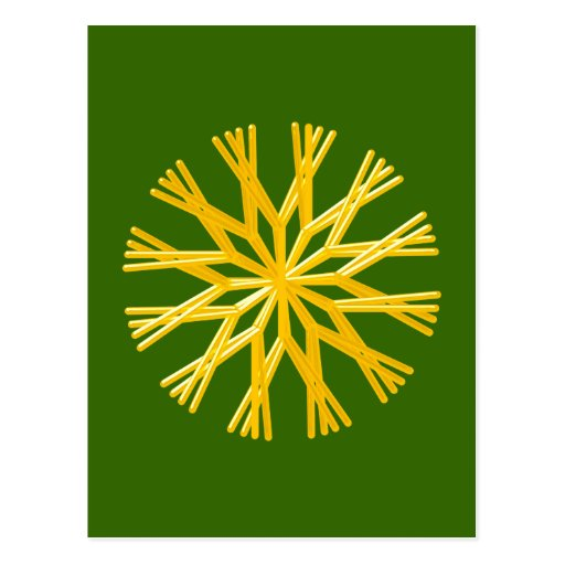 Strohstern straw star postcard