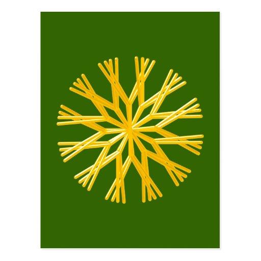Strohstern straw star postkarte