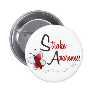 Stroke Awareness BUTTERFLY SERIES 2 6 Cm Round Badge