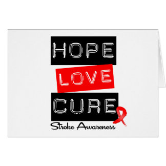 Stroke Awareness Hope Love Cure Greeting Card