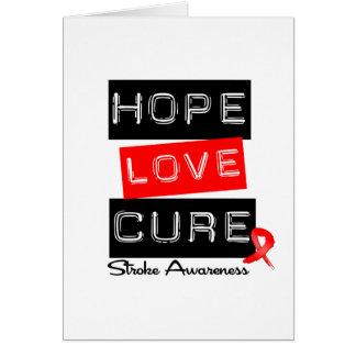 Stroke Awareness Hope Love Cure Greeting Card