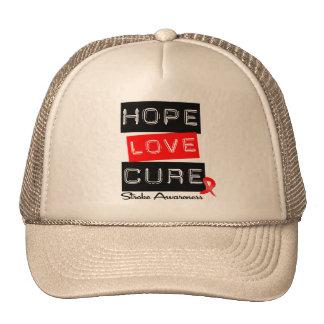 Stroke Awareness Hope Love Cure Hat