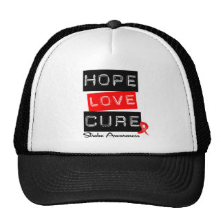 Stroke Awareness Hope Love Cure Mesh Hats