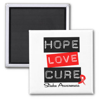 Stroke Awareness Hope Love Cure Magnets