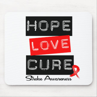Stroke Awareness Hope Love Cure Mouse Mat