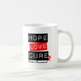 Stroke Awareness Hope Love Cure Coffee Mugs