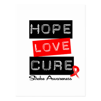 Stroke Awareness Hope Love Cure Postcard