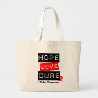Stroke Awareness Hope Love Cure Canvas Bags