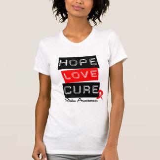 Stroke Awareness Hope Love Cure T Shirts