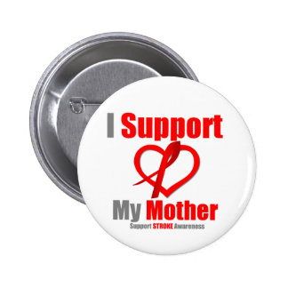 Stroke Awareness I Support My Mother 6 Cm Round Badge