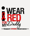 Stroke Awareness I Wear Red Ribbon For My Daddy Shirts