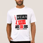 Stroke Awareness I Wear Red Ribbon For My Son Tee Shirt
