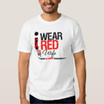 Stroke Awareness I Wear Red Ribbon For My Wife Tshirt