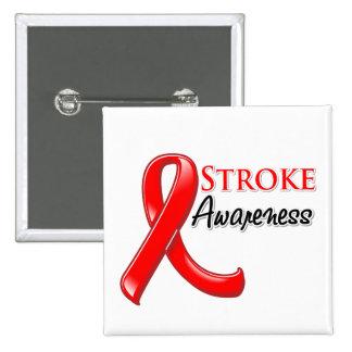 Stroke Awareness Ribbon 15 Cm Square Badge