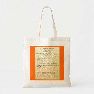 Stroke / Brain Injury Bill of Rights by Tom Schuck Budget Tote Bag