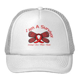 Stroke Butterfly I Am A Survivor Trucker Hat