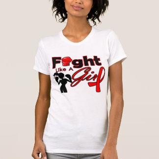 Stroke Disease Fight Like A Girl Silhouette T Shirts