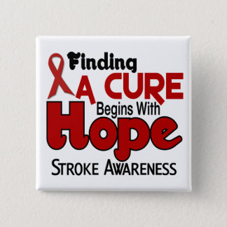 Stroke HOPE 5 15 Cm Square Badge