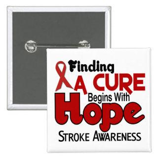 Stroke HOPE 5 15 Cm Square Badge