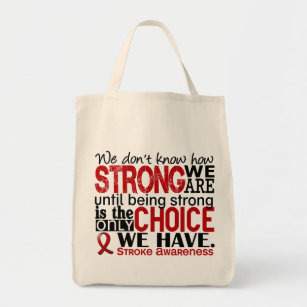 Stroke patient gifts gift ideas zazzle uk stroke how strong we are tote bag negle Images