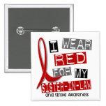 Stroke I WEAR RED FOR MY SISTER-IN-LAW 37 15 Cm Square Badge