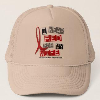 Stroke I WEAR RED FOR MY WIFE 37 Trucker Hat