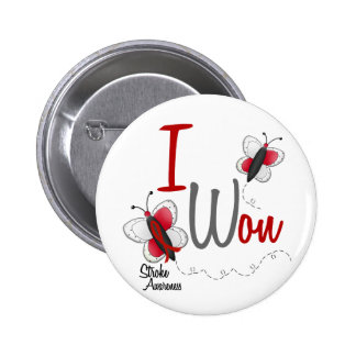 Stroke I Won BUTTERFLY SERIES 2 6 Cm Round Badge
