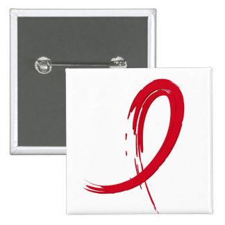 Stroke Red Ribbon A4 Pinback Buttons