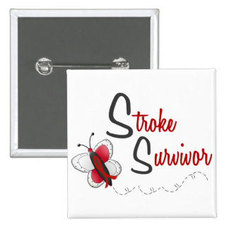 Stroke Survivor BUTTERFLY SERIES 2 15 Cm Square Badge
