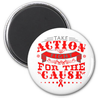 Stroke Take Action Fight For The Cause Refrigerator Magnets