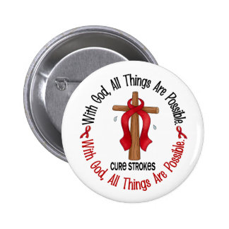 Stroke WITH GOD CROSS 1 6 Cm Round Badge